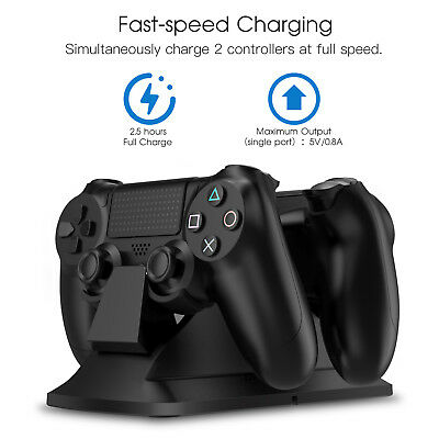 Dual Controller Charging Station Dock For Playstation 4 Ps4   Ps4 Slim   Ps4 Pro
