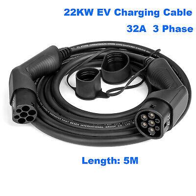 5m Typ 2 EV Ladekabel EV 16A 11kW 3 Phasig Elektroauto Wallbox Mode 3 Tesla BMW