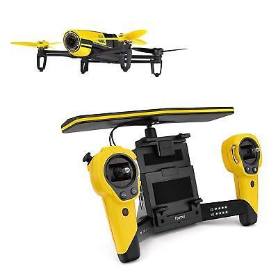 Parrot Japan Bebop Drone QuadCopter SkyController Yellow W/ Fish-eye Lens