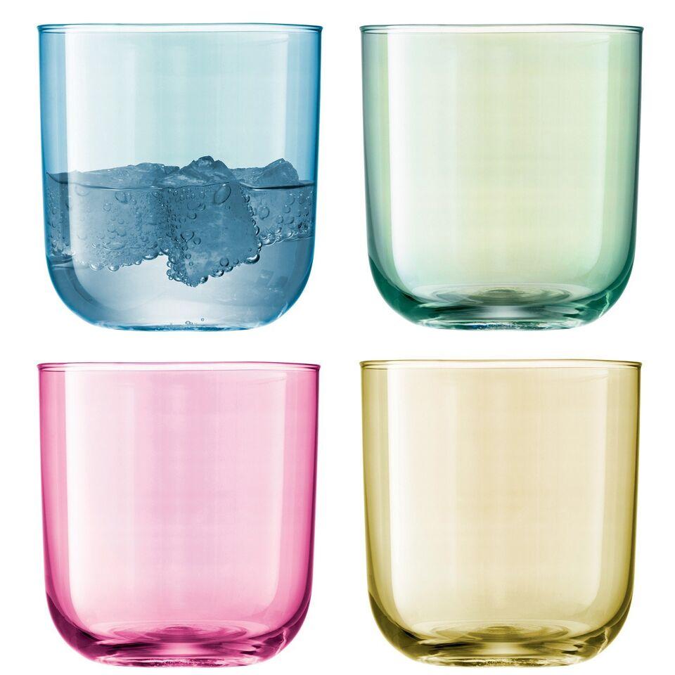 LSA Polka Tumbler Glasses - Pastel Assortment - Set of 4