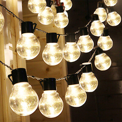 String Lights For Wedding (Outdoor String Lights for Patio Globe Party Weddings Light Bulb Solar)