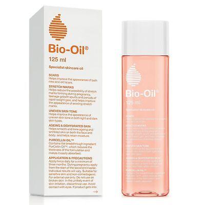 Bio-Oil for Scars,Stretch Marks, Uneven Skin Tone w/ PurCellin Oil, 4.2 Oz/125mL