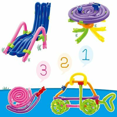 Peradix Colorful Soft Building Sticks Toy Stackable Flexible