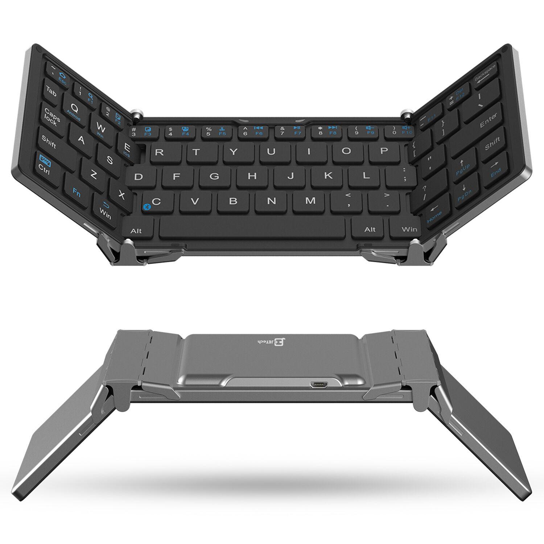 Jetech® Aluminum Foldable Wireless Bluetooth Keyboard For...