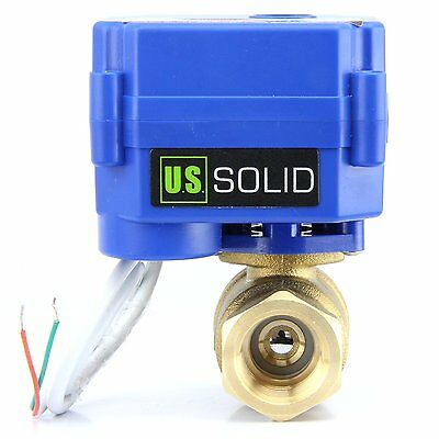 34 Motorized Ball Valve Brass 9v 12v To 24v Normally Closed 2 Wire Auto Return