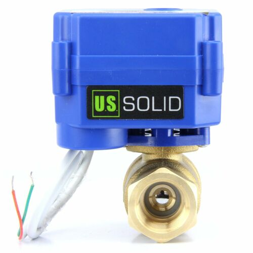 "3/4"" Motorized Ball Valve Brass 9V 12V to 24V Normally Closed 2 Wire Auto Return"
