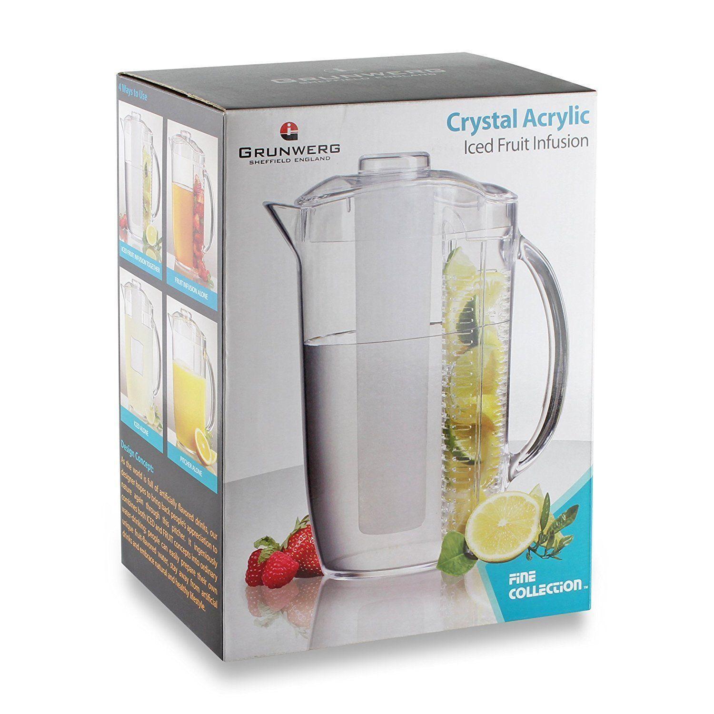 Grunwerg Fruit Iced Infusion Infuser Water Jug Pitcher Juice