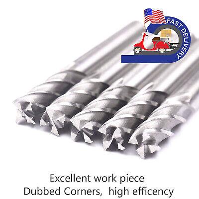 5pcs Hss Cnc 4 Flutes End Mill Milling Machine Cutter Bit 1414342-13