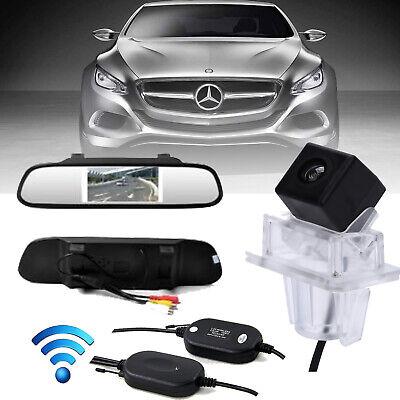 "4.3"" Mirror + Wireless Rear View Reversing Camera For Mercedes-Benz C E Class"