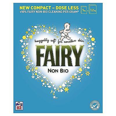 Fairy Non-Bio Laundry Washing Powder Detergent, Sensitive Skin, 4.22KG 65 Washes
