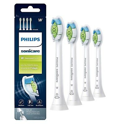 4 PCS Philips Sonicare Diamond Clean Toothbrush Replacement Heads HX6064/65
