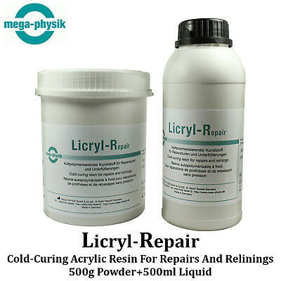 Dental Licryl Repair Full Restoration Acrylic Denture Base Cold Curing Resin