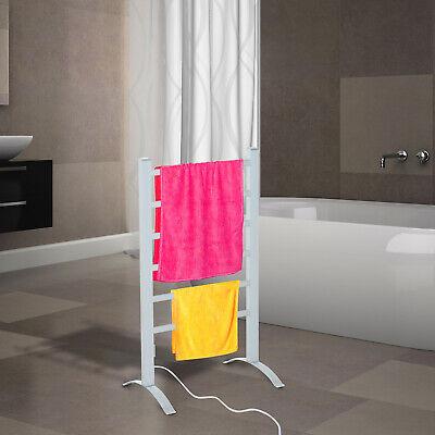 Beheizte Handtuchhalter 6 Heizstäbe Handtuchheizkörper Handtuchwärmer Silber
