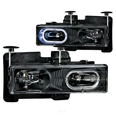 Headlight Assembly-with halo Crystal Lens Black Anzo 111007