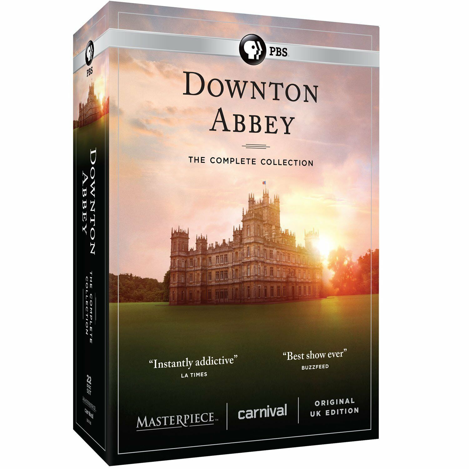 Изображение товара Downton Abbey:The Complete Series Collection(DVD,22-Disc Set,Seasons 1-6)NEW