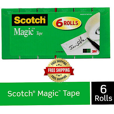 Scotch Tape Refill Magic 34 X 1000 Inches Boxed 6 Rolls Invisible Free Shipping