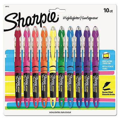 Sharpie Accent Liquid Pen Style Highlighter Chisel Tip Assorted 10set 24415pp