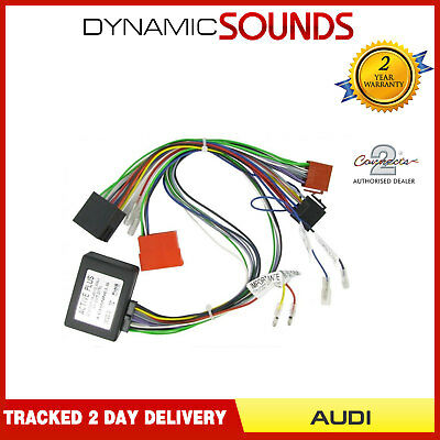 CT53-AU04 BOSE Car CD Wiring Loom Harness Adaptor For Audi A2, A3, A4, A6, A8,TT