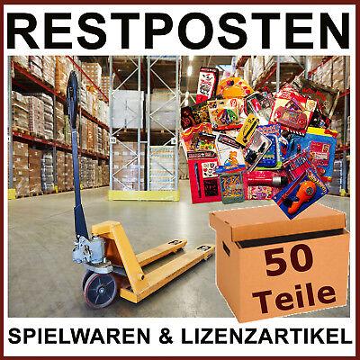 Restposten Kleinspielwaren 50 Lizenzartikel - Wurfmaterial Mitgebsel Tombola