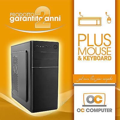 PC DESKTOP INTEL QUAD CORE RAM 4GB HD320GB DVDRW/HDMI/USB 3.0/ASSEMBLATO FISSO