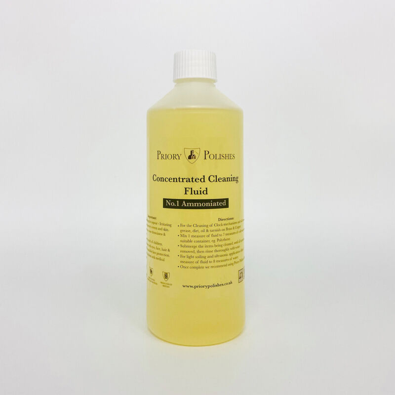 SPECIAL:CLOCK CLEANING CONCENTRATE NO 1/ BRASS CLEANER 500ML PLUS FREE CLOCK OIL