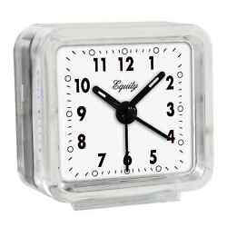 Equity by La Crosse Clear Quartz Travel Alarm Clock 2 by 2 Ships from US