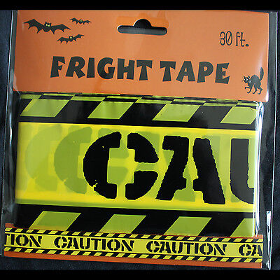 Zombie Prop Building-CAUTION-Barricade Fright Tape-Costume Party Decoration-30ft](Halloween Prop Building)