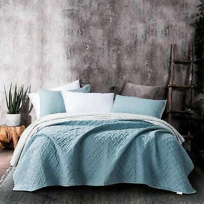 Kasentex Quilted Ultra Soft Coverlet 3-PC Bedding Set 2-Tone Reversible