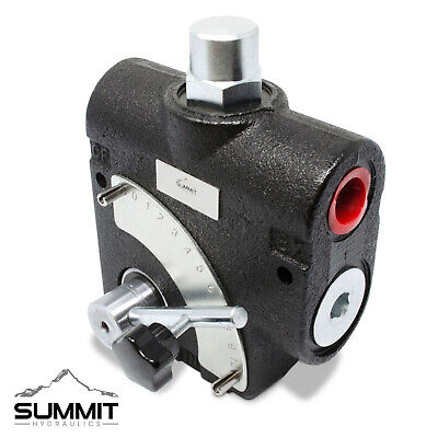 Hydraulic Adjustable Variable Flow Control Valve W Relief 0-16 Gpm 8 Sae