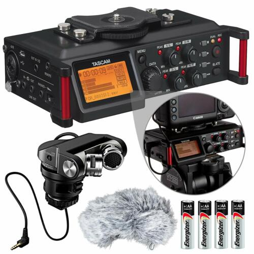 Tascam DR-70D 4-Channel Audio Recording Device for DSLR and