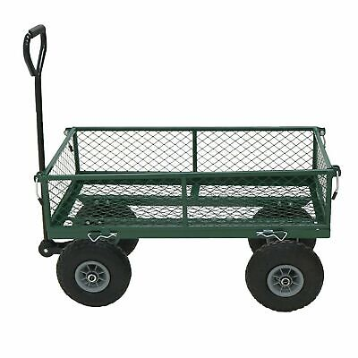 NEW Heavy Duty Garden Trolley Cart Wheelbarrow Trailer Large - NEXT DAY DELIVERY