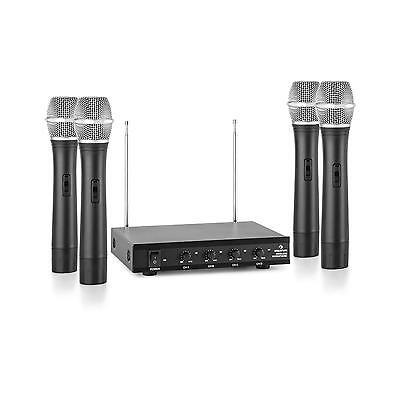 4 Pezzi Radio Microfono Vhf Canale Gelato Senza Fili Wireless 50M Dinamico