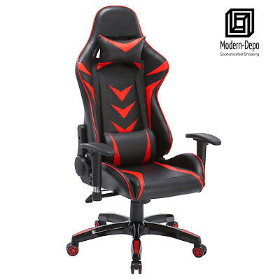 High-back Swivel Gaming Chair Black Red Racing Ergonomic Office Desk Chair