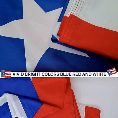 Puerto Rico Flag 3×5 FT National Country Banner Polyester Grommets Puerto Rican Collectibles