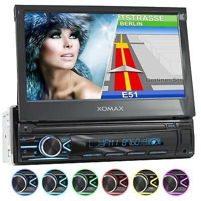 CAR STEREO RADIO SYSTEM WITH GPS SAT NAV TOUCHSCREEN BLUETOOTH USB SD RDS 1DIN