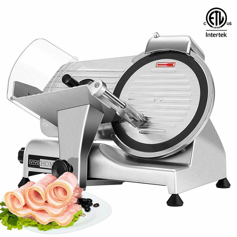 "VIVOHOME Commercial Electric Meat Slicer 10"" Blade 320W Deli Food Cheese Cutter"