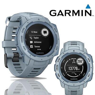 Garmin Instinct 45mm Blue Rugged GPS Smart Watch Fitness Tracker Heart Rate