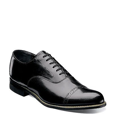 Leather Patent Leather Oxfords - Stacy Adams CONCORDE 11003 01 Black Patent Leather Cap Toe Oxford Lace Up Shoes