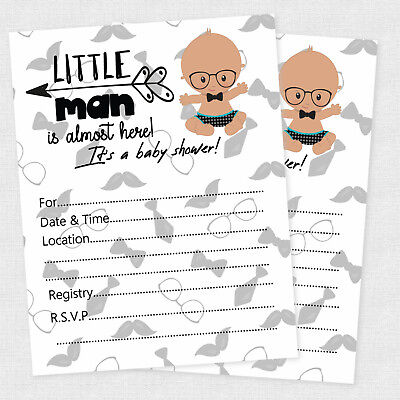 20 Little Man Baby Shower Bowtie Invitations Party Decorations Bow Tie Lil Man](Little Man Invitations Baby Shower)