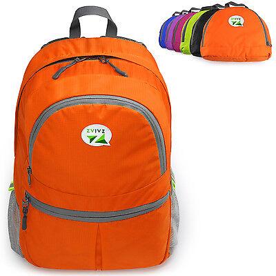 ZaiaZ Foldable Backpacks Water Resistant Camping Hiking Day Orange - ²3