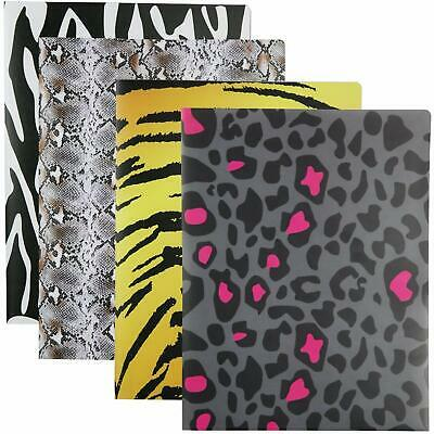 Premium Plastic 4pc Twin Pocket Letter Size Beautiful Animal Design Folder