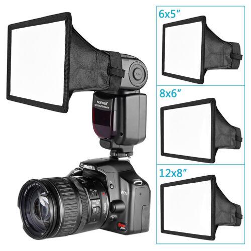 "Neewer 3pcs on-Camera Speedlite Flash Diffuser Light Softbox 6x5""  8x6"" 12x8"""