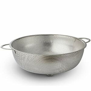 Stainless Steel Strainer - 5 Quart Colander- by Bovado USA