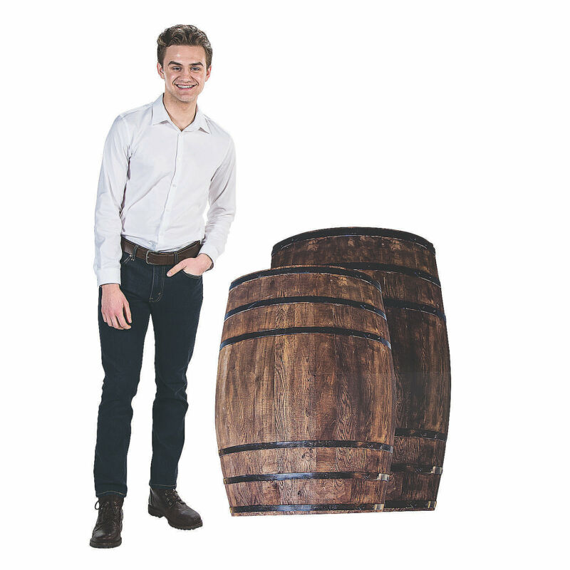 Western Barrel Stand-Ups - Party Decor - 2 Pieces