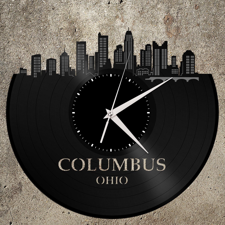 Columbus Ohio State Clock Wall Art Trendy Gift Ideal For Home Decor Birthday Ebay