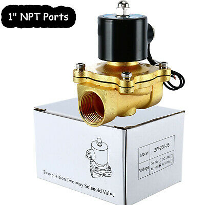 1pc Brass Electric Solenoid Valve 1 Npt 110-volt Ac 110vac Water Air Gas 1inch
