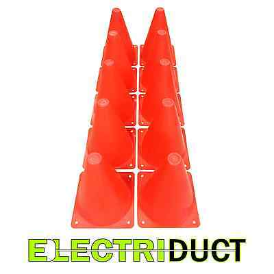 7 Orange Polyethylene Toys Plastic Traffic Road Safety Cones 10 Pack