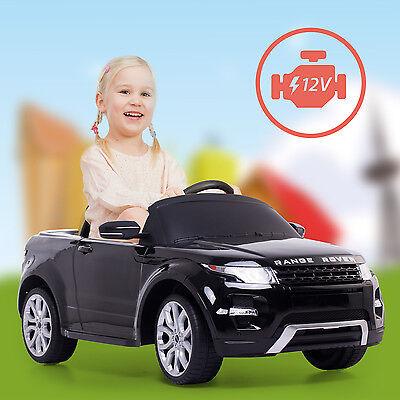Range Rover Kinderauto Kinderfahrzeug Fernsteuerung 12V/2 Elektromotoren Schwarz