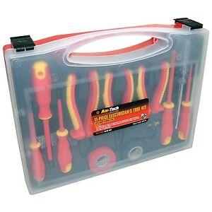 Am-Tech 11pc Electrical Electricians Tool Kit 1000V AC & 1500V DC