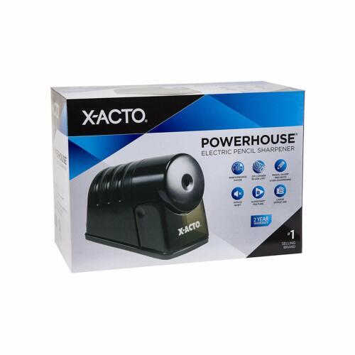 X-ACTO Powerhouse Electric Pencil Sharpener Black Office Quiet Performance Gauge